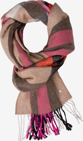 BRAX Schal in beige / braun / pink / schwarz / weiß, Produktansicht