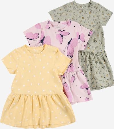 NAME IT Kleid 'SONYA' in gelb / pastellgrün / lila / mischfarben, Produktansicht