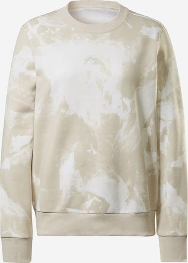 REEBOK Sportsweatshirt in hellbeige / weiß, Produktansicht