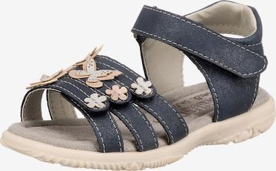 INDIGO Sandalen in beige / dunkelblau, Produktansicht
