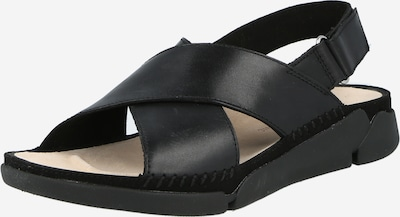 CLARKS Strap sandal 'Tri Alexia' in Black, Item view