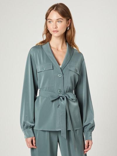 Guido Maria Kretschmer Collection Bluse 'Celia' in jade, Modelansicht