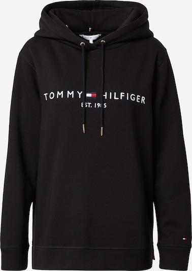 TOMMY HILFIGER Sweatshirt 'TH ESS HILFIGER HOODIE LS' in schwarz, Produktansicht