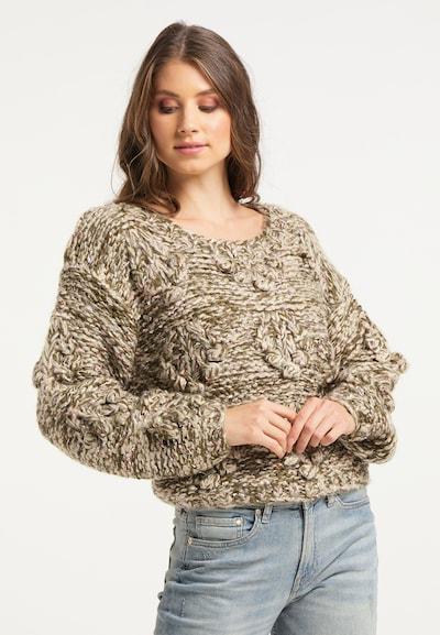 IZIA Pullover in hellbraun / khaki, Modelansicht