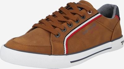 TOM TAILOR Sneaker in navy / cognac / rot / weiß, Produktansicht