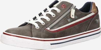MUSTANG Šněrovací boty - hnědá / červená / bílá, Produkt