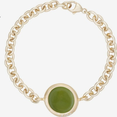 Zoccai Bracelet in Gold / Green, Item view