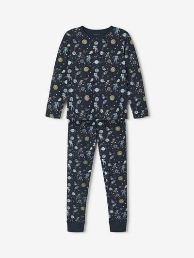 NAME IT Piżama w kolorze opal / ciemny niebieski / musztardowy / khaki / białym, Podgląd produktu