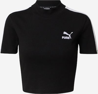 PUMA Camiseta en negro / blanco, Vista del producto
