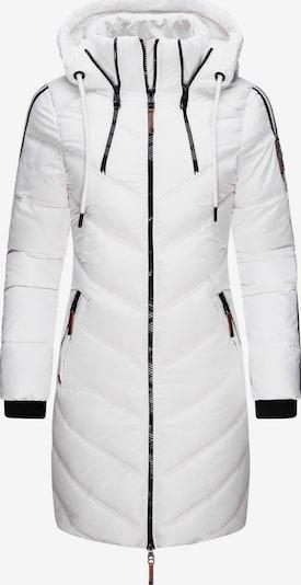 MARIKOO Wintermantel 'Armasa' in schwarz / weiß, Produktansicht