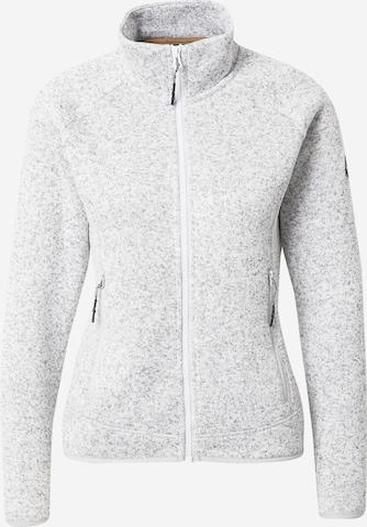 ICEPEAK Athletic Fleece Jacket 'ATALISSA' in Grey