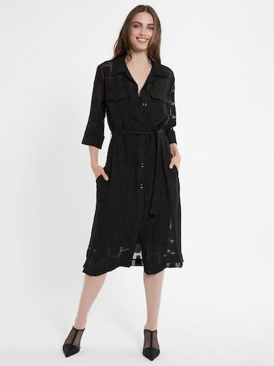 Ana Alcazar Blusenkleid ' Caleb ' in schwarz, Modelansicht