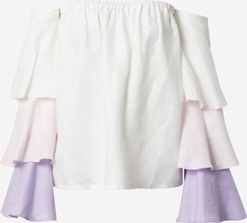 KAN Tričko 'PETALS' - biela