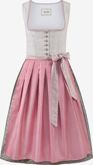 STOCKERPOINT Dirndl Lilith in khaki / rosa / weiß, Produktansicht