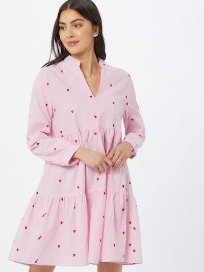 Zwillingsherz Košilové šaty 'Elena' - růžová / červená / bílá, Model/ka