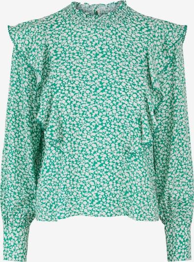 Y.A.S Bluse 'Felicity' in jade / weiß, Produktansicht