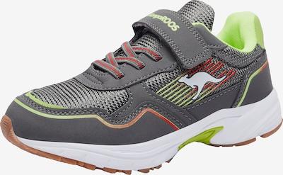 KangaROOS Sneaker in grau / limette / rot / weiß, Produktansicht