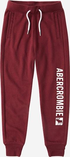 Abercrombie & Fitch Pantalon en bourgogne / blanc, Vue avec produit