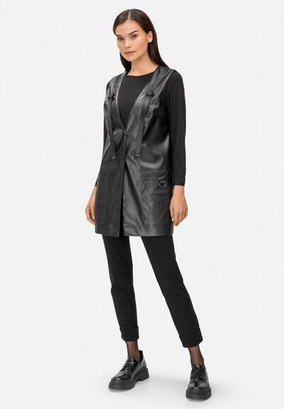 HELMIDGE Lederweste in schwarz, Modelansicht