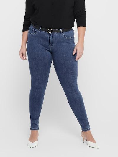 ONLY Carmakoma Jeans in de kleur Blauw denim, Modelweergave
