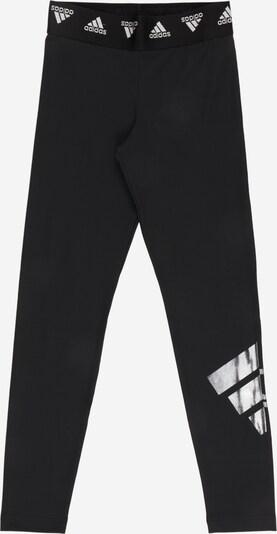 ADIDAS PERFORMANCE Sportske hlače u svijetlosiva / crna / bijela, Pregled proizvoda