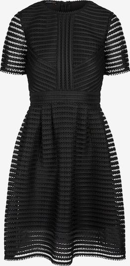 APART Kleid aus gestreiftem Lochmuster Mesh in schwarz, Produktansicht
