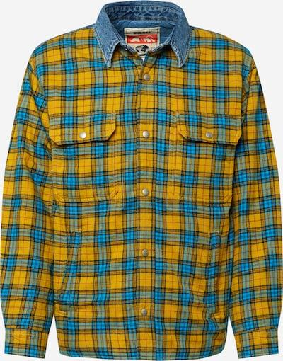 DIESEL Jacke 'S-BUN' in blau / gelb / rot / schwarz, Produktansicht