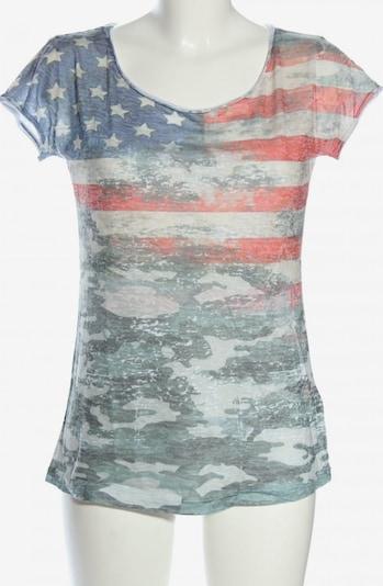 Northland Print-Shirt in XS-XL in blau / hellgrau / rot, Produktansicht
