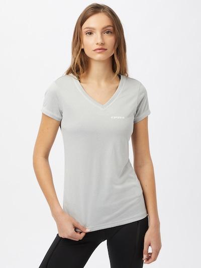 ICEPEAK Functioneel shirt 'BEASLEY' in de kleur Lichtgrijs / Wit: Vooraanzicht