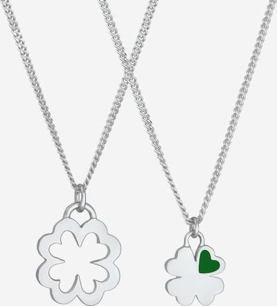 ELLI Halskette Kleeblatt, Mutter und Kind in silber, Produktansicht