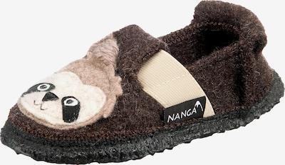 NANGA Hausschuhe in beige / hellbraun / dunkelbraun / schwarz, Produktansicht