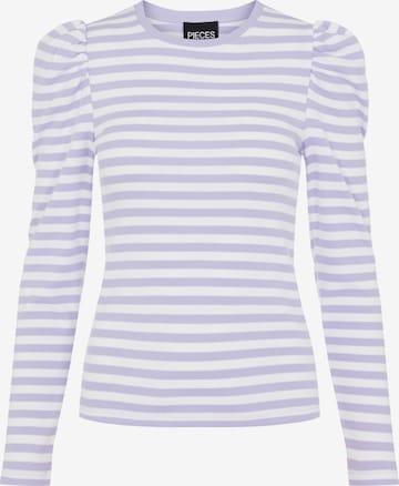 PIECES Shirt 'PCANNA' - fialová