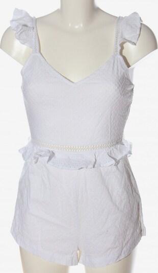 Warehouse Kurzer Jumpsuit in S in weiß, Produktansicht