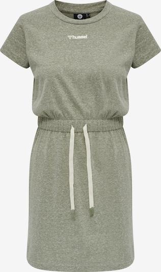 Hummel Robe de sport en vert chiné / blanc, Vue avec produit