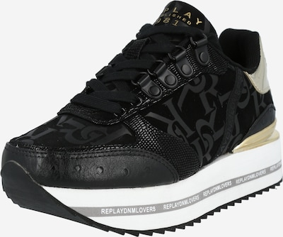 REPLAY Sneaker 'Heniker' in gold / schwarz, Produktansicht