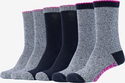 SKECHERS Socken Miami 6er Pack mit weichem Bund in grau / schwarz, Produktansicht