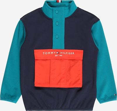 TOMMY HILFIGER Sweatshirt in navy / pastellblau / rot / weiß, Produktansicht