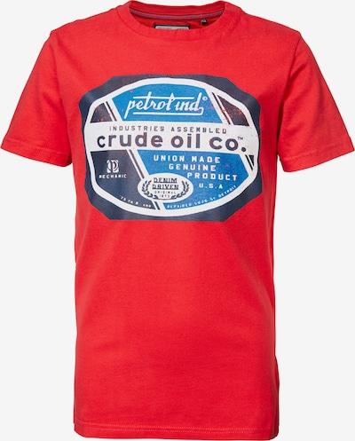Petrol Industries T-Shirt in hellblau / dunkelblau / rot / weiß, Produktansicht