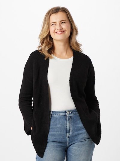 JACQUELINE de YONG Strickjacke 'Elanora' in schwarz, Modelansicht