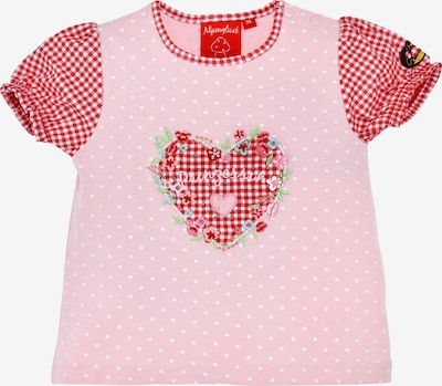BONDI T-Shirt in hellblau / mint / rosa / rot / weiß, Produktansicht