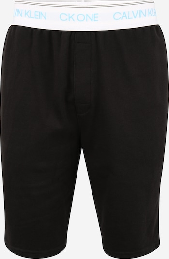 Calvin Klein Underwear Pantalon de pyjama en aqua / noir / blanc, Vue avec produit