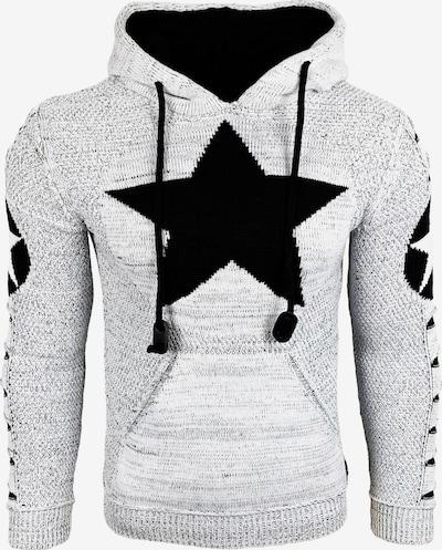 Rusty Neal Kapuzenpullover in schwarz / weiß, Produktansicht