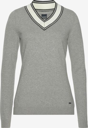 ARIZONA Pullover in hellgrau / schwarz / weiß, Produktansicht