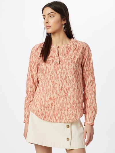 ICHI Bluse in beige / pastellrot, Modelansicht
