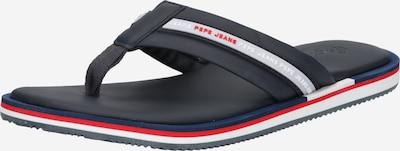 Pepe Jeans Zehentrenner 'BARREL SMART' in nachtblau / dunkelblau / rot / weiß, Produktansicht