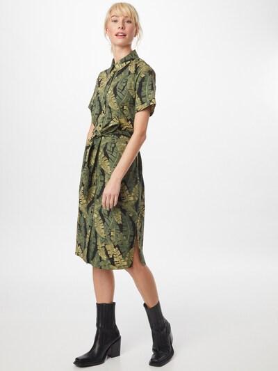 OBJECT Kleid 'FANA' in oliv / dunkelgrün / schwarz, Modelansicht