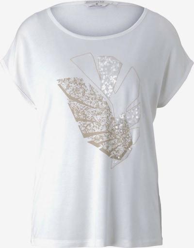 TOM TAILOR T-shirt en or / blanc, Vue avec produit