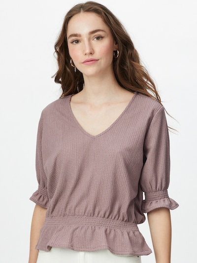 Stitch and Soul Blouse in de kleur Lila, Modelweergave