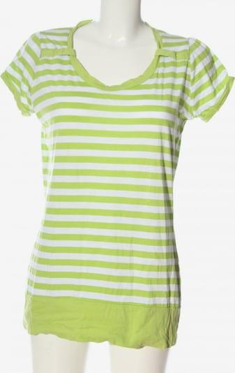 Infinity woman Kurzarm-Bluse in L in grün / weiß, Produktansicht