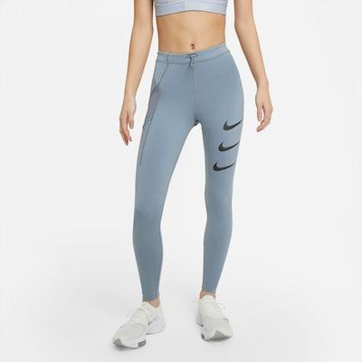Sportinės kelnės iš NIKE, spalva – dangaus žydra / juoda, Modelio vaizdas